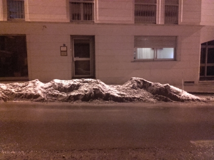 Il a neigé sur les reliefs, prise de vue numérique, février 2018, Poitiers